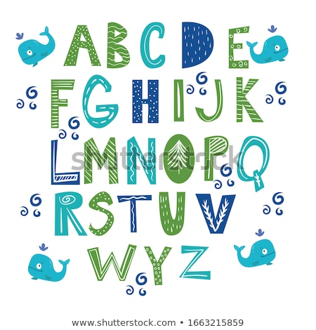 Children with letters ABC theme 1 Stock photo © clairev