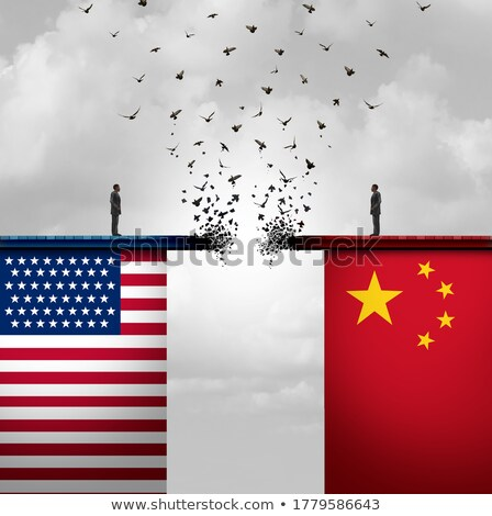 Сток-фото: China United States Economic War