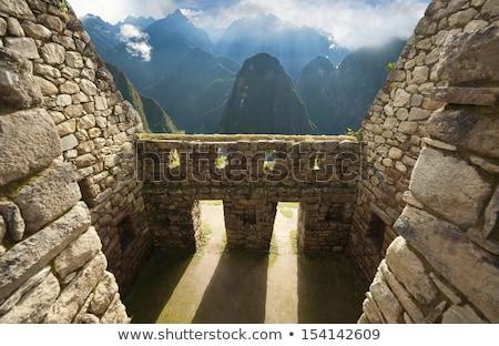 Detay eski duvar Peru güney amerika Stok fotoğraf © boggy