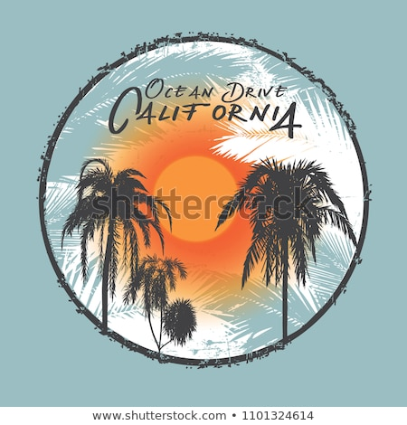 Vintage dibujado a mano surf viaje impresión camiseta Foto stock © JeksonGraphics