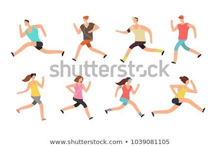 Uruchomiony maraton ludzi uruchomić kolorowy Zdjęcia stock © marish