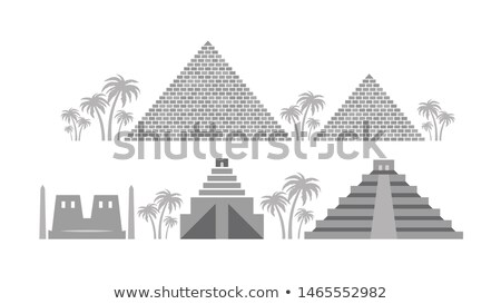 Pyramids and Temples of Ancient Egypt, Babylon, Maya. Stock photo © Glasaigh