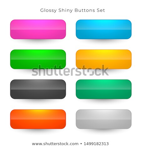 shiny wide rounded buttons set Stock photo © SArts