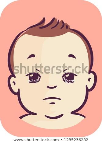 Baby Watery Eyes Illustration Stock photo © lenm