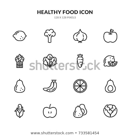 Healthy Food Vegetable Avocado Vector Sign Icon Stock photo © pikepicture