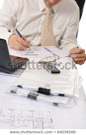 Wealth Management, People with Stats of Banking Stock photo © robuart
