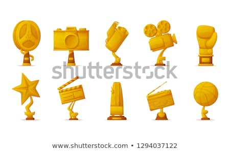 Dourado troféu câmera recompensar vencedor vetor Foto stock © robuart