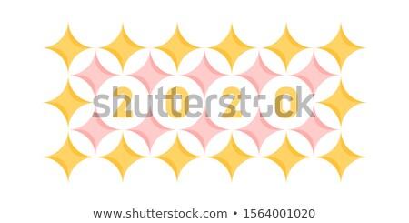 Nombre pastel motif géométrique étoiles Photo stock © ussr