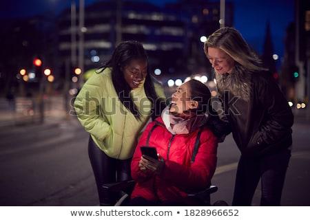 handicapées · femme · vecteur · vie · handicap · souriant - photo stock © voysla