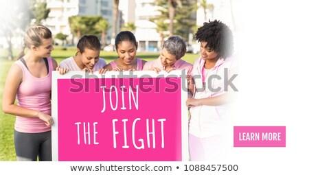 Lutte texte rose cancer du sein conscience femmes Photo stock © wavebreak_media