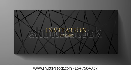 golden geometric invitation blank frame background design Stock photo © SArts