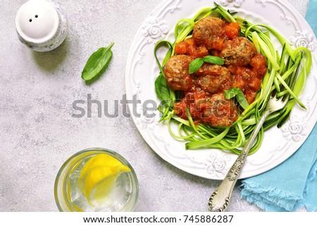 Ensopado abobrinha legumes carne comida refeição Foto stock © fotoaloja