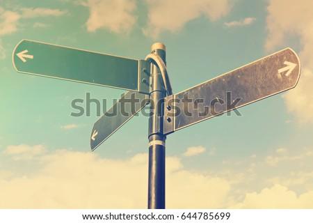 choosing direction travel arrow Stock photo © burakowski