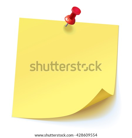 yellow stick note with push pins stock photo © ankarb