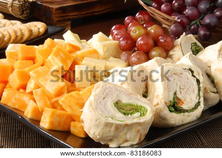 Cheese And Snack Tray Stok fotoğraf © MSPhotographic