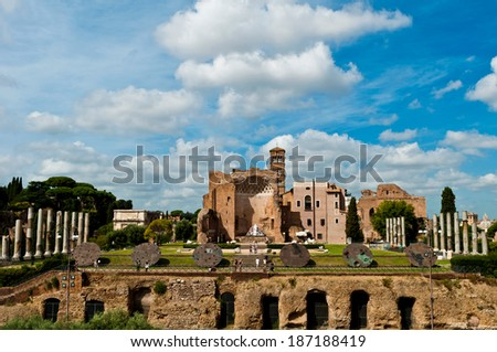 colonnade of the Temple of Venus, Rome Stock photo © adrenalina