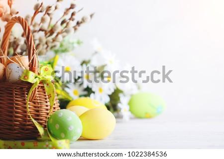 Kellemes húsvétot kék asztal virág digitális kompozit rózsa Stock fotó © wavebreak_media