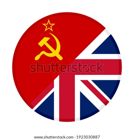 Great Britain VS Russia round flags Stock photo © romvo