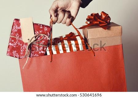 christmas shopping bag stock photo © get4net