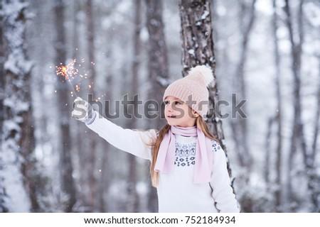 Cute meisje winter leuk genieten vers Stockfoto © Illia