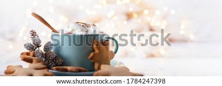ochtend · ontbijt · koffie · chocolade · cookies - stockfoto © brebca