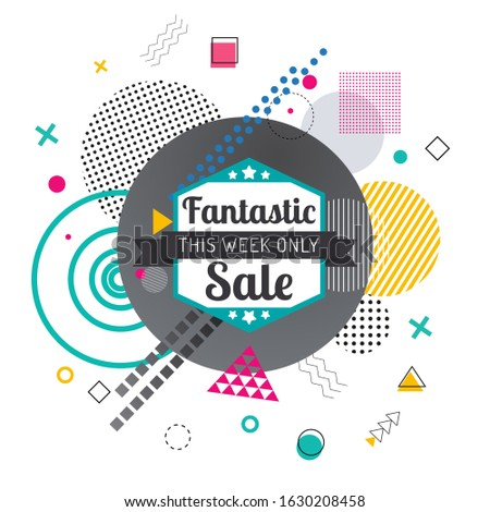 Big Sale and Super Quality Promotion Action Poster Stock photo © robuart