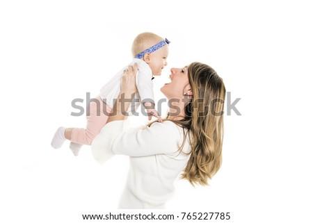 画像 幸せ 母親 愛らしい 赤ちゃん 孤立した ストックフォト © Lopolo