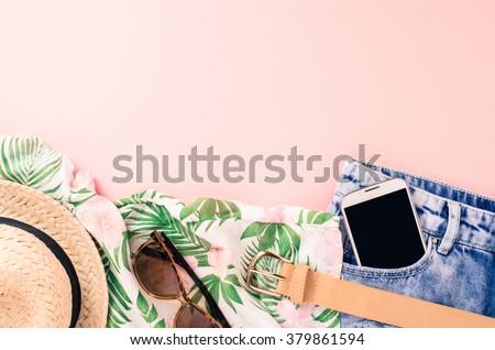 Roze kleding ingesteld meisje voertuigen boten Stockfoto © toyotoyo