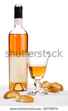 Cantuccini with a glass of Italian dessert wine Stock photo © Alex9500