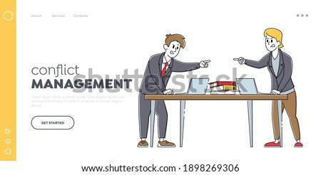Businessperson Quarreling To Colleague Stock photo © AndreyPopov