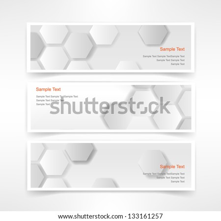 hexagonal patterns background set in three colors Stock photo © SArts