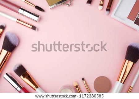 Girl's makeup essentials kit Stock photo © goir