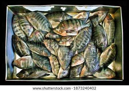 Сток-фото: рыбы · продажи · рынке · Таиланд · продовольствие · природы