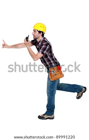 A foreman trying to prevent something bad from happening. Stock photo © photography33