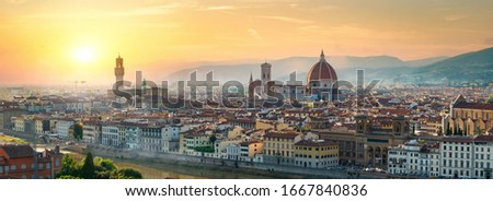 Florence Panoramic View Stock fotó © givaga