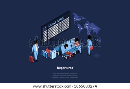 Três espera aeroporto negócio homem Foto stock © photography33