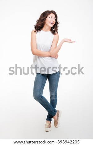Stock photo: Portrait of young playful woman. Isolated