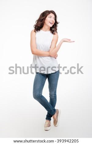 Portrait of young playful woman. Isolated stock photo © acidgrey