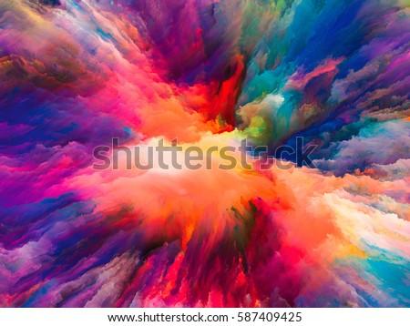 カラフル 抽象的な 背景 オレンジ 青 色 ストックフォト © liliwhite
