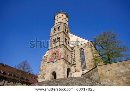 St Michaels church in Schwabisch Hall Germany Stock photo © backyardproductions