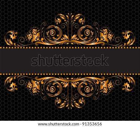 background with a horizontal band with gold ornament stock photo © yurkina