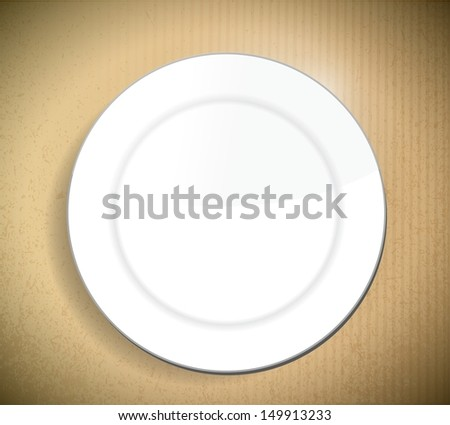 Dish Over A Cardboard Background Illustration Design Graphic Сток-фото © alexmillos