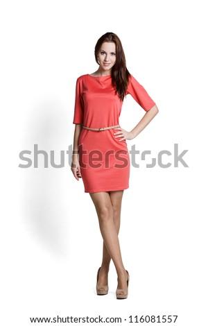 美人 モデル ポーズ エレガントな ドレス スタジオ ストックフォト © restyler