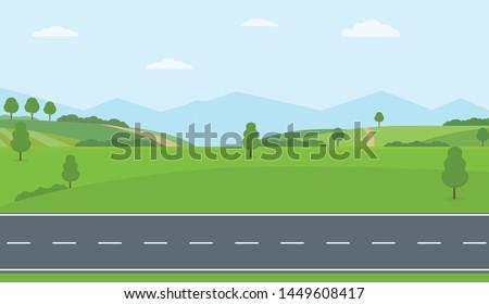 field in rural area with blue sky stock photo © meinzahn