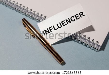 Influence Blue Marker Stock photo © ivelin