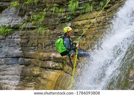 İspanya kanyon vadi spor doğa dağ Stok fotoğraf © pedrosala
