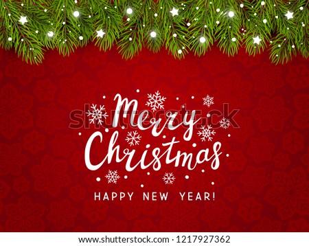 zöld · fenyő · ág · piros · díszítések · karácsony - stock fotó © artspace