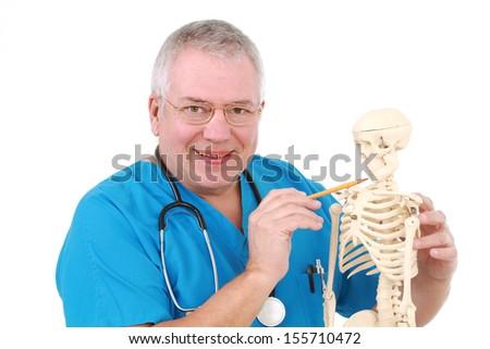 Grappig arts skelet ziekenhuis medische lichaam Stockfoto © Elnur