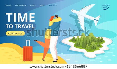 Tourists in Warm Countries, Travel Online Vector Stock photo © robuart