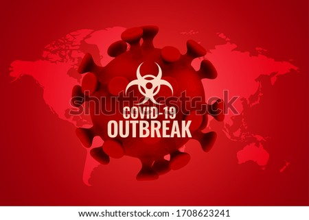 covid19 outbreak background in red color scheme Stock photo © SArts